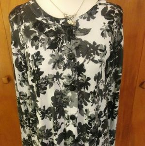 White Stag Sweaters - Floral Button Up Cardigan